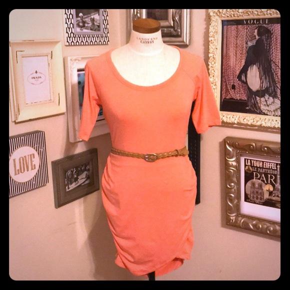 51024d095aa8 Athleta Dresses   Super Soft Gathered Side Tshirt Dress   Poshmark